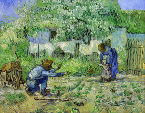 First Steps of artist Vincent van Gogh as framed image