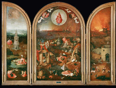 Hell of artist Hieronymus Bosch as framed image
