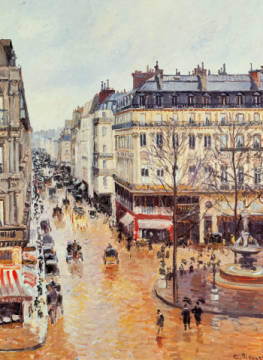 Rue Saint-Honoré in the afternoon. Effect of Rain of artist Camille Pissarro, Oil, Out, Day, Big, Well, 65cm, 1897, Grand