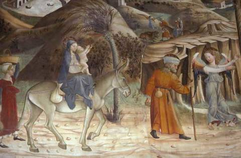 Atri / Flight to Egypt / Delitio of artist Andrea Delitio, Atri, Into, -the, Life, Jesus, Built, Italy, Mural