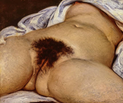 The Origin of the World, 1866 of artist Gustave Courbet as framed image