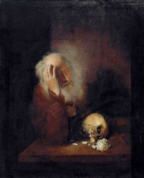 Hieronymus of artist Christopher Paudiß, Inv, Old, Oil, 392, Mori, 17th, 1660, Hands