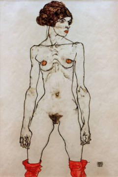 Standing Nude / 1914 of artist Egon Schiele, Hair, Nude, Arts, Egon, Woman, Young, Pubic, French