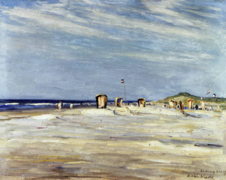 Norderney of artist Julian Klein von Diepold, Time, Free, 20th, East, 1920s, North, Beach, Ocean