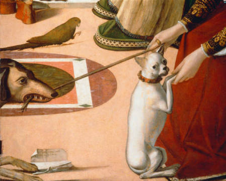 Two Venetian Courtesans of artist Vittore Carpaccio, 2nd, 1490, Object, Animal, Painting, Millennium
