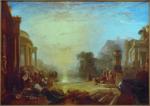 The Decline of the Carthaginian Empire of artist Joseph Mallord William Turner, Oil, War, Port, North, World, Italy, Africa, Harbor