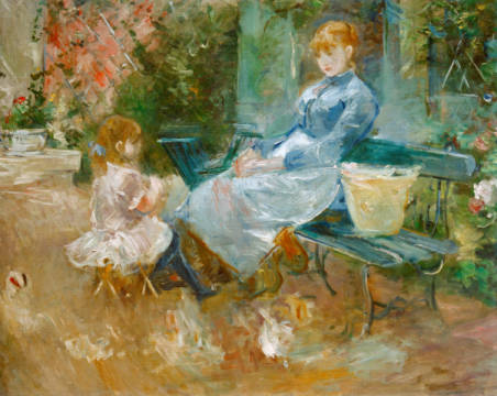 The fairy tale of artist Berthe Morisot as framed image