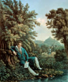 Ludwig van Beethoven - Beethoven by the brook, composing the Pastoral Symphony