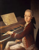 Franz Thaddaus Helbling - Portrait of Carl Graf Firmian at the piano, formerly thought to be Wolfgang Amadeus Mozart (1756-91)