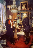 Konrad Siemenroth - Bismarck (right) with Kaiser Wilhelm I in the historic corner room of the royal palace