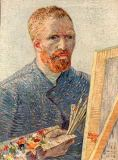 Vincent van Gogh - Selfportrait at the easel