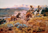 Charles Marion Russell - Roundup on the Musselshell / Russell