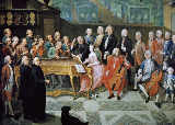 Paul Joseph Delcloche - Court Concert at Prince Bishop's of Luettich in Seraing palace