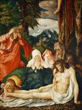 Hans Baldung-Grien - The Mourning of Christ, Saints Mary and