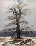 Caspar David Friedrich - Oak Tree in the Snow