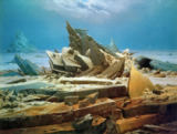 Caspar David Friedrich - Arctic Ship Wreck / The Polar Sea, 1824