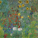 Gustav Klimt - Farm Garden with Flowers