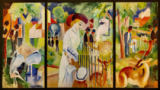 August Macke - Triptych: big zoological garden