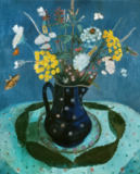 Paula Modersohn-Becker - Bouquet of Wildflowers, still life: flowers in blue pitcher, 1906 (or 1907 ?
