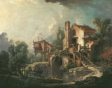 François Boucher - Landscape with Mill