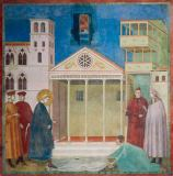 Giotto di Bondone - An Ordinary Man Pays Homage to St. Francis at the Market Square of Assisi