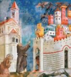 Giotto di Bondone - St. Francis Frees the Town Arezzo of the Demons