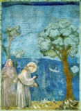 Giotto di Bondone - St.Francis preache sto the birds