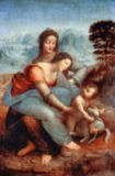 Leonardo da Vinci - St.Anne with Mary and the Child Jesus