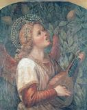 Melozzo da Forli - Angel Making Music / Fresco / C15th