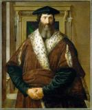 Francesco Parmigianino - Condottiere Malatesta Baglione. Oil on p