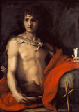 Andrea del Sarto - John the Baptist as a youngster in the wilderness