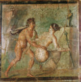 AKG Anonymous - Erotic scene / Roman wall-painting
