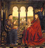 Hubert & Jan van Eyck - Madonna of Nicholas Rolin