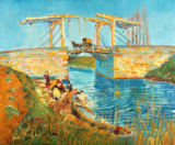 Vincent van Gogh - Bridge at Langlois in Arles with Washerwomen
