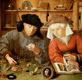 Quentin Massys - The moneychanger and his wife