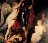Peter Paul Rubens - The Hero of Virtue (Mars), is garlanded by the Goddess of Victory