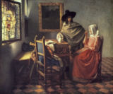 Jan Vermeer van Delft - Man and woman drinking wine