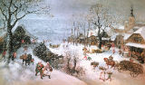 Lucas van Valckenborch - Winter Landscape-February