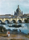 Bernardo Bellotto - Dresden from the right bank of the Elbe, below the Augustusbrücke