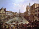 Giovanni Paolo Pannini - Piazza Navona in Rome under Water