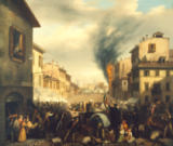 Carlo Canella - The Battle over Porta Tosa in Milan, 22 March 1848