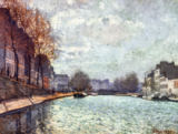 Alfred Sisley - View of the Saint-Martin canal in Paris