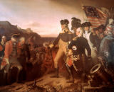 Eugen Hess - Washington enforces the surrender of Yorktown 1781