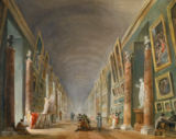 Hubert Robert - The Grand Gallery of the Louvre between 1801 and 1805