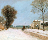 Alfred Sisley - Port-Marly im Winter