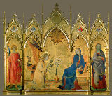 Simone Martini - Annunciation to Mary / Saints Ansanus and Julitta