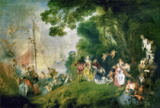 Jean Antoine Watteau - The Embarkation for Cythere