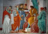 Fra Filippo Lippi - The Apostles Peter and Paul Argue with Simon Magus in front of Emperor Nero