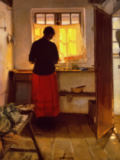 Anna Kristine Ancher - The Girl in the Kitchen