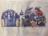 Buchmalerei - Attack on Messina 842 /from: Skylitzes